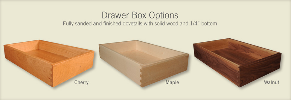 drawer box options
